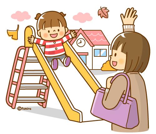 「保育園に預けるママ イラスト」の画像検索結果